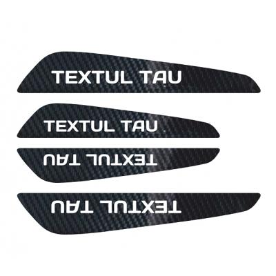 Set protectii usi Carbon 5D - Textul Tau