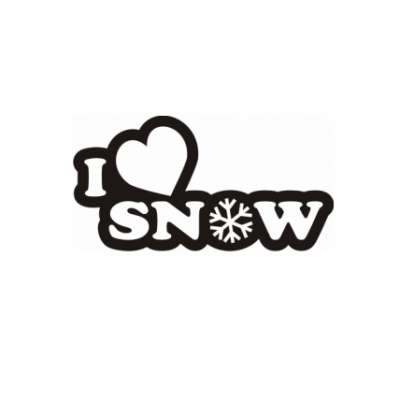 Sticker I Love Snow