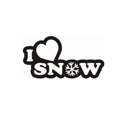 Sticker I Love Snow