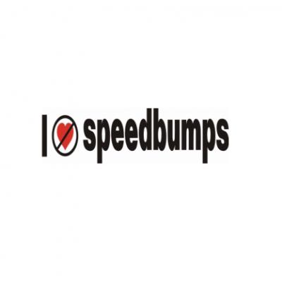 Sticker I Don't Like Speed Bumps (v2)