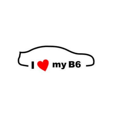 Sticker I Love My B6