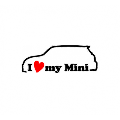 Sticker I Love My Mini