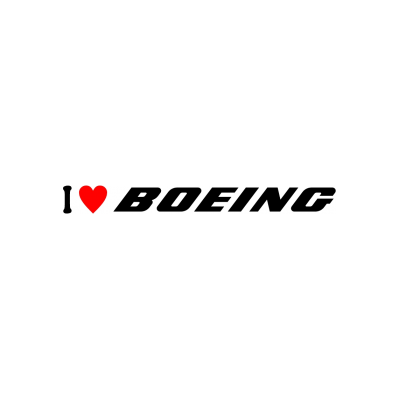 Sticker I Love Boeing