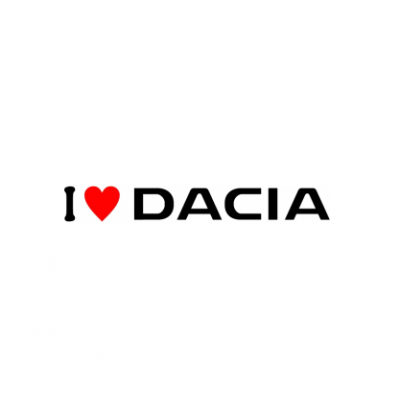 Sticker I Love Dacia (v1)