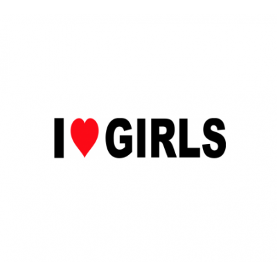 Sticker I Love Girls