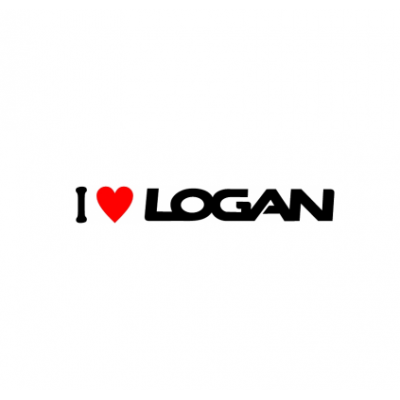 Sticker I Love Logan (v2)