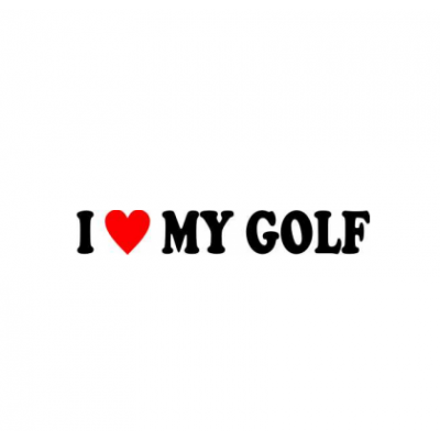 Sticker I Love My Golf