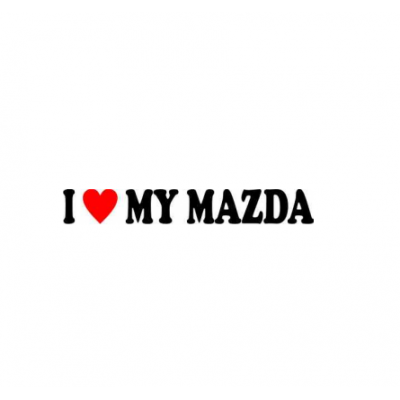 Sticker I Love My Mazda