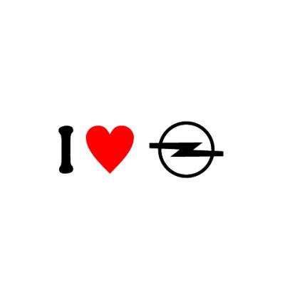 Sticker I Love Opel Sigla
