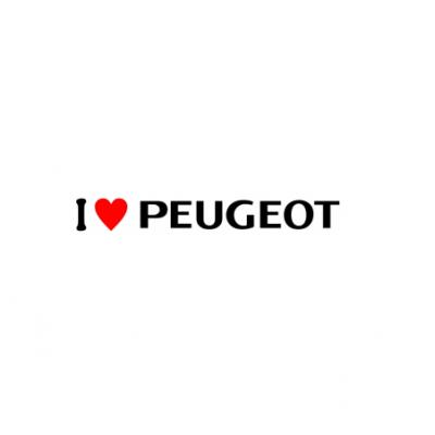 Sticker I Love Peugeot