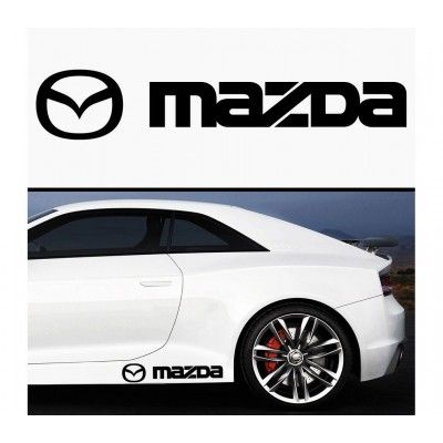 Sticker prag Mazda (set 2 buc)