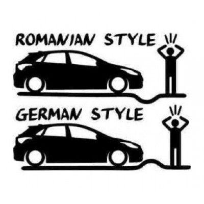 Stickere auto Romanian vs German Style - i30