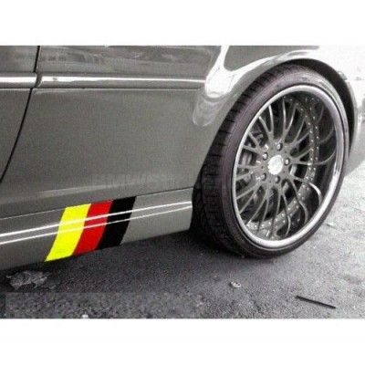 Sticker ornament auto model German Flag (v2)