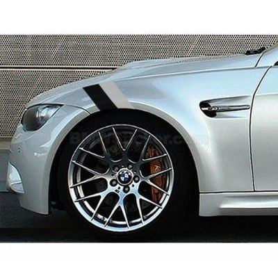 Sticker ornament auto BMW Flag - Black/Gray