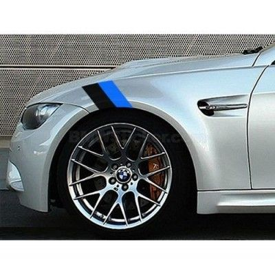 Sticker ornament auto BMW Flag - Black/Blue