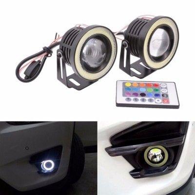 Proiectoare LED RGB cu Angel Eyes 76mm