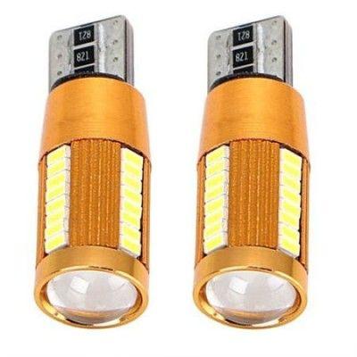 Set 2 Becuri LED T10 Canbus 22SMD cu Lupa (V2)