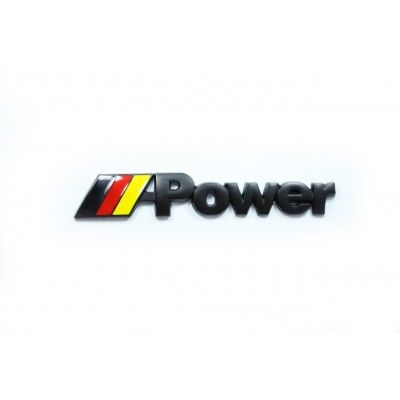 Emblema Black M-Power Flag